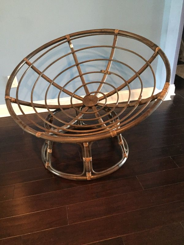 Espresso Papasan Chair Frame from World Market for Sale in