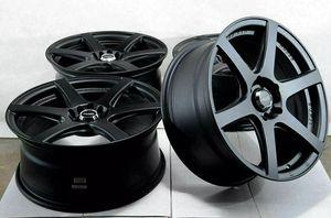 Photo 17 5x114.3 5x100 Black Wheels Fits Volkswagen Golf Beetle Gti Accord 5 Lug Rims
