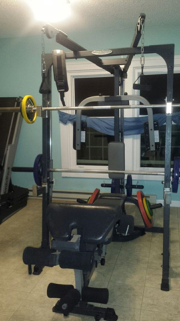 Smith machine home gym squat rack free weights for sale in