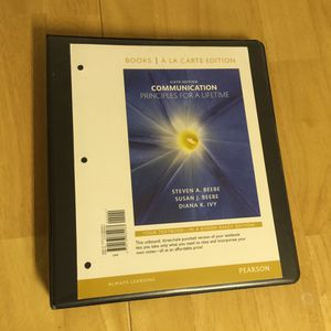 (6th Edition) Communications Principles for a Lifetime Textbook for Sale in Sterling, VA