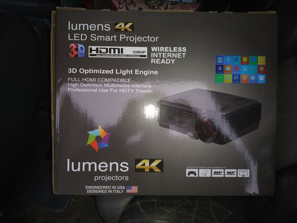 Lumens 4k led smart projector for Sale in Los Angeles, CA - OfferUp