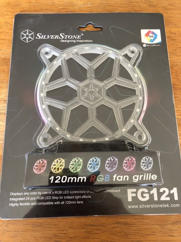 SilverStone Technology 120mm RGB LED Fan Guard/Grill for ASUS AURA SYNC/MSI  Mystic Light Sync/ASROCK AURA RGB/BIOSTAR RACING and Others FG121 for Sale