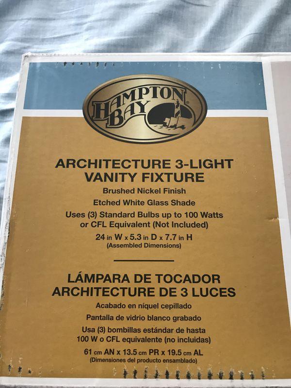 Architecture 3-Light Vanity Fixture (Household) in NJ, US - OfferUp