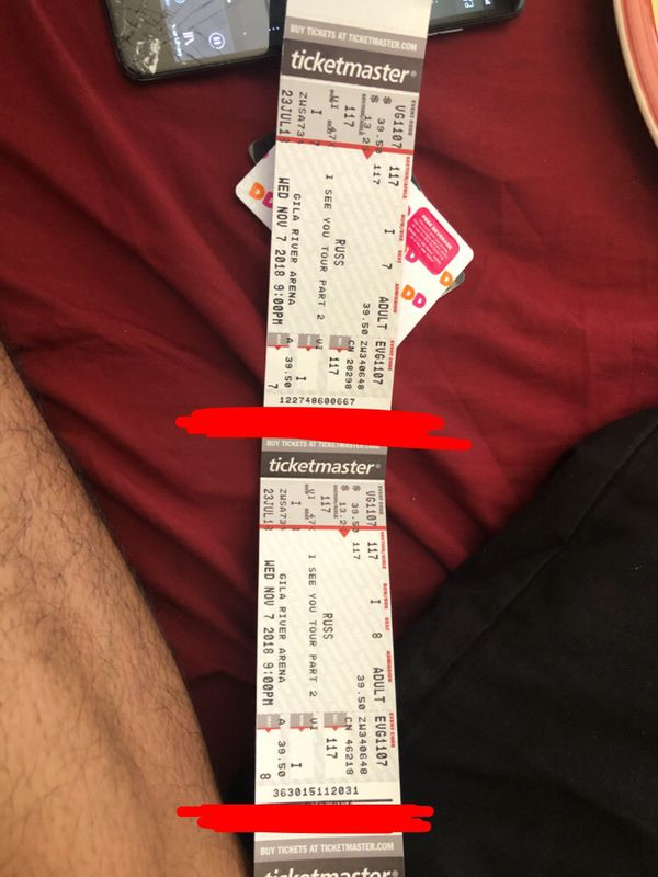 Russ tickets for Sale in Goodyear, AZ - OfferUp