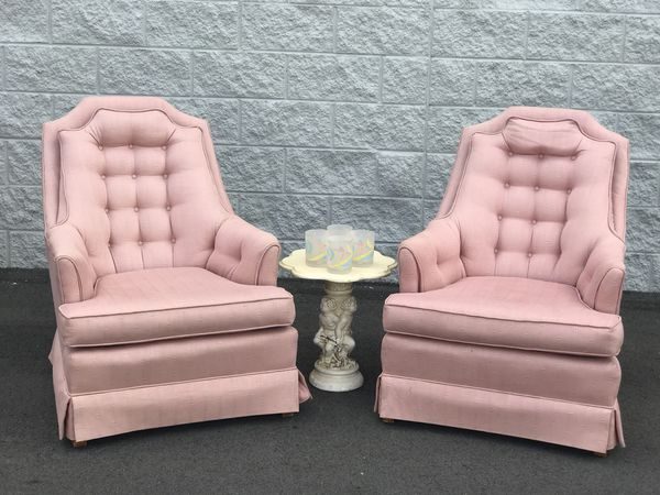Vintage Pink Chair Pair (Furniture) in Tampa, FL - OfferUp