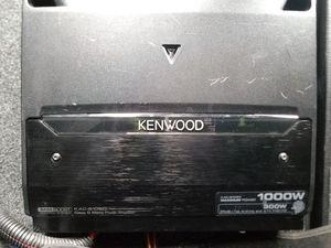 Photo Kenwood mono 1000w amp JL w6 12