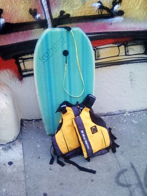 West Marine Life jacket with Kahala boogie board for Sale in San Francisco, CA