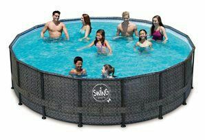 16 Ft. Swimming pool SWING FRAME RATAN MAX for Sale in Las Vegas, NV ...