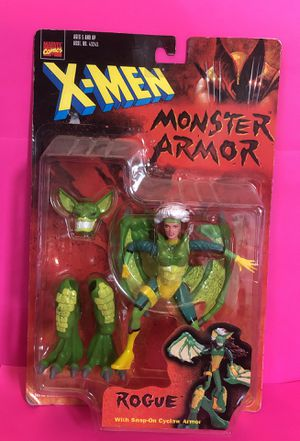 """Vintage Marvel Comics X-Men Monster Armor Rogue with Snap-On Cyclaw Armor 5"""" Action Figure Toy Biz 1997 for Sale in Las Vegas, NV"""