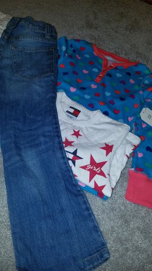 Girls size 6 shirts and jeans for Sale in Manassas, VA