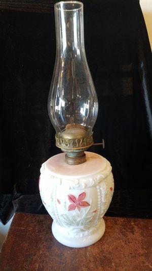 Antique Milk Glass Oil Lamp for Sale in Bath, PA