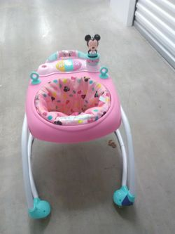 Mickey Mouse baby walker toy pink girls boys yellow green white Thumbnail