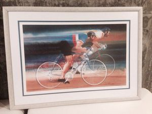 1988 Olympics cycling signed and # print by bob peak for Sale in San Diego, CA