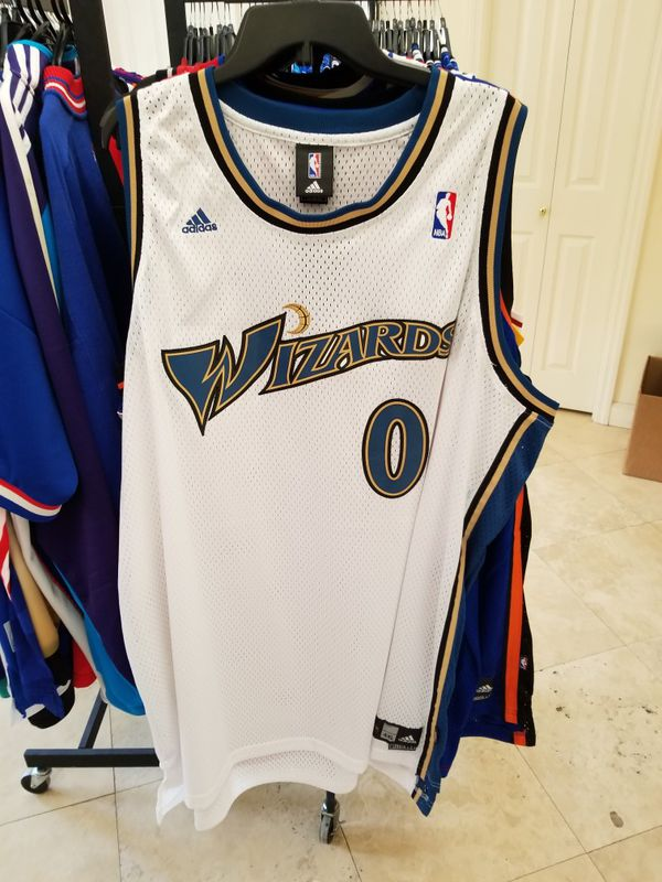 release date 7da75 71224 GILBERT ARENAS WASHINGTON WIZARDS THROWBACK JERSEY SIZE 4XL for Sale in  Fort Lauderdale, FL - OfferUp
