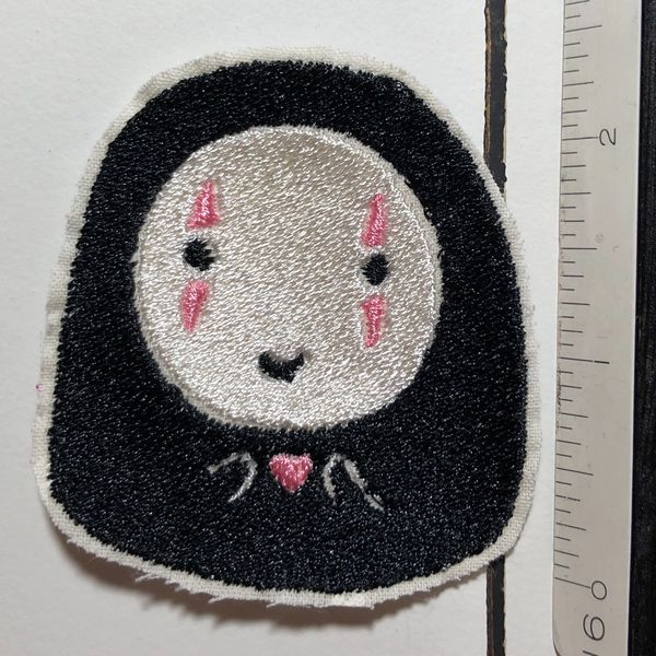 No Face Spirited Away Medium Iron On Embroidered Patch For Sale In