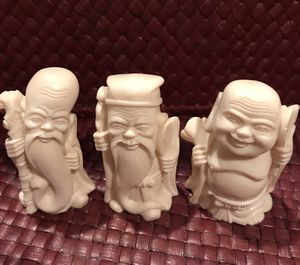 Vintage resin Buddha figures, Health, Wisdom, and Wealth for Sale in Silver Spring, MD