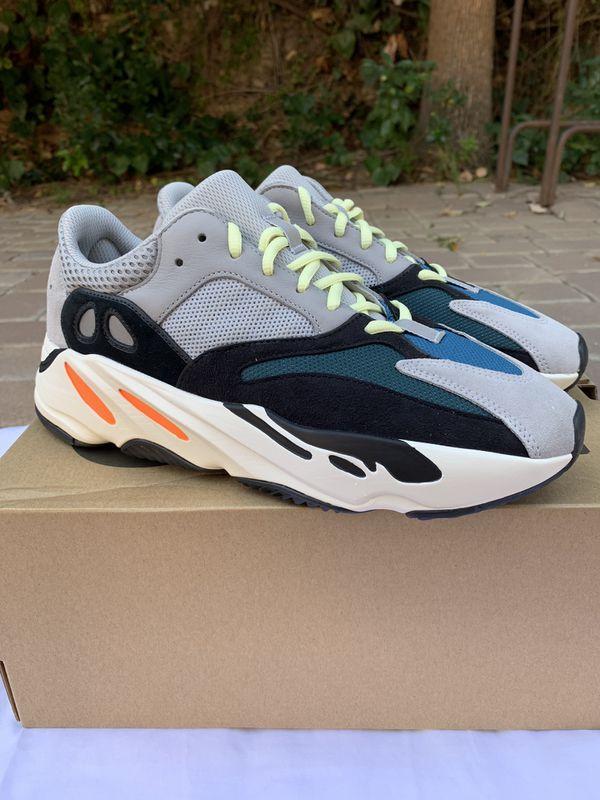 53669ec4aca90 DS new adidas Yeezy Boost 700 Wave Runner Solid Grey Mens 9.5 OG V1 V2 500  350 Kanye West