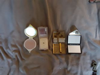 Vintage compact,s, mirror and cigarette case Thumbnail