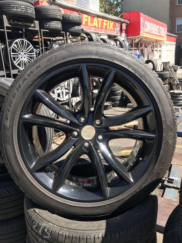 20 Dodge Charger Challenger Chrysler 300 Oem Black Wheels Rims Tires 2017