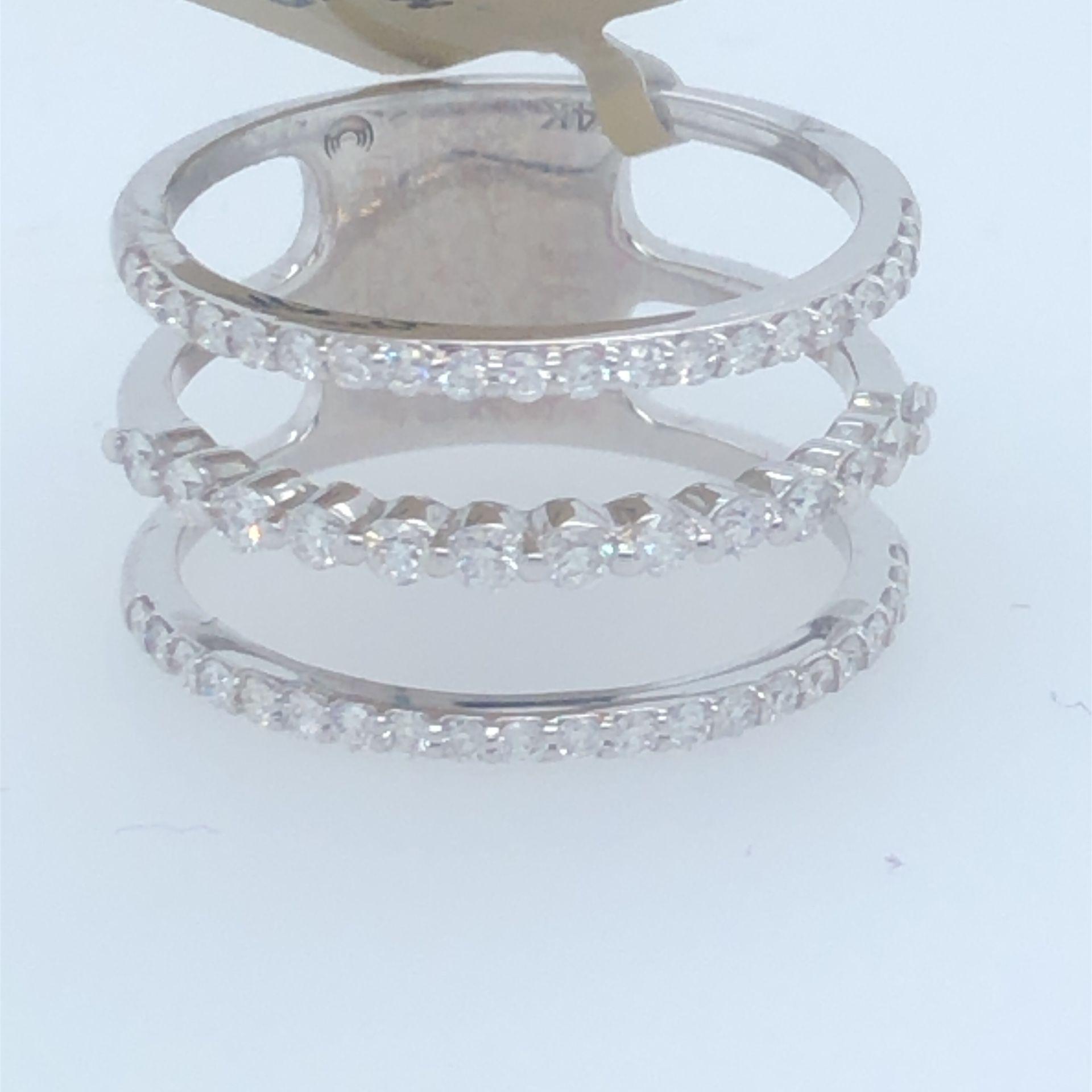14kt 3-band Diamond Ring