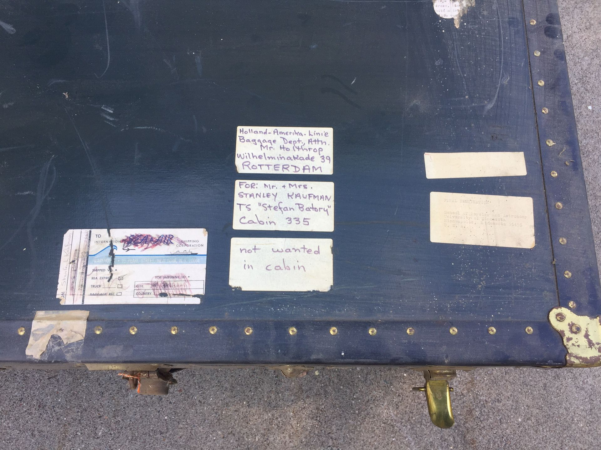 Vintage trunk from 1960