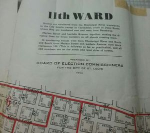 Vintage 1956 St. Louis Fire Department Firefighter St. Louis City Map 11th Ward for Sale in St. Louis, MO