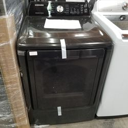 Samsung Top Load Washer And Gas Dryer Set Black stainless New Thumbnail