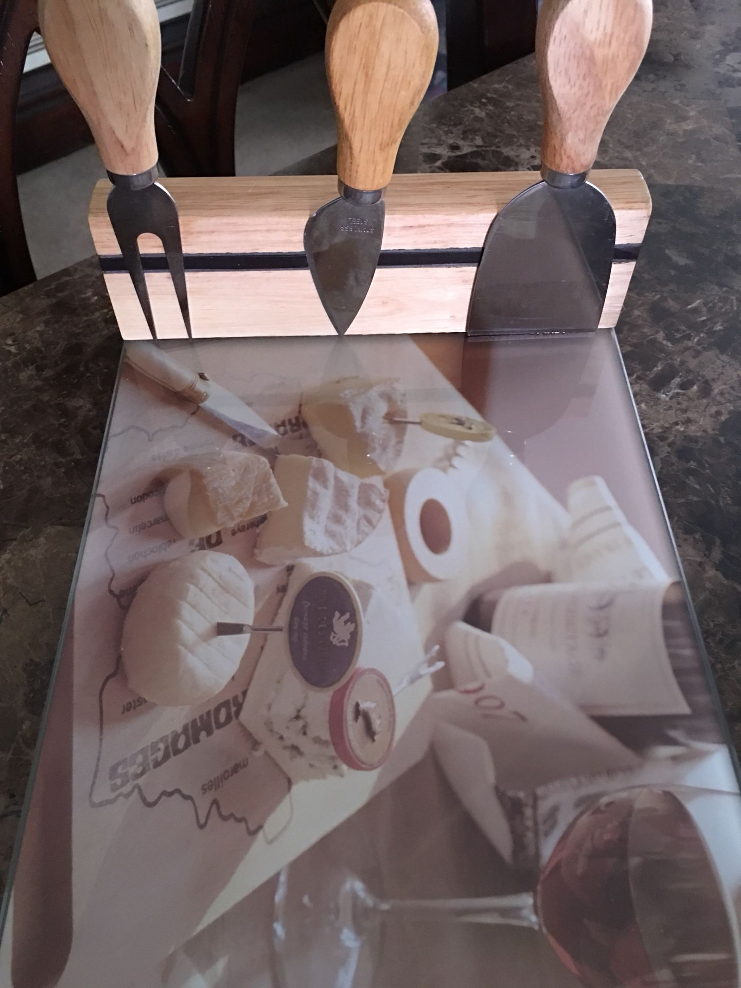 Cheese board and tools