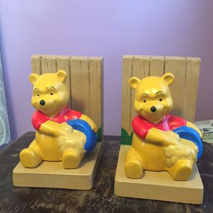 Photo Winnie the Pooh bookends ceramic