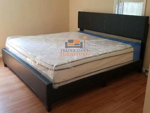 Brand new king size platform bed frame with pillowtop mattress for Sale in Silver Spring, MD