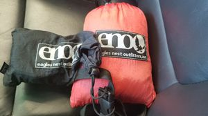 ENO Double Nest Hammock (Red/Grey), with straps for Sale in Hyattsville, MD