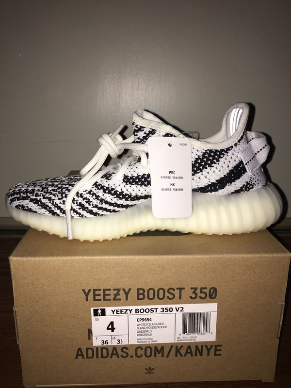 outlet store 0eaac 9f98e Yeezy Boost 350 V2 Zebra Size 4 for Sale in Hayward, CA - OfferUp