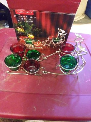 Christmas reindeer and sleigh votive holder $9 for Sale in Sumas, WA