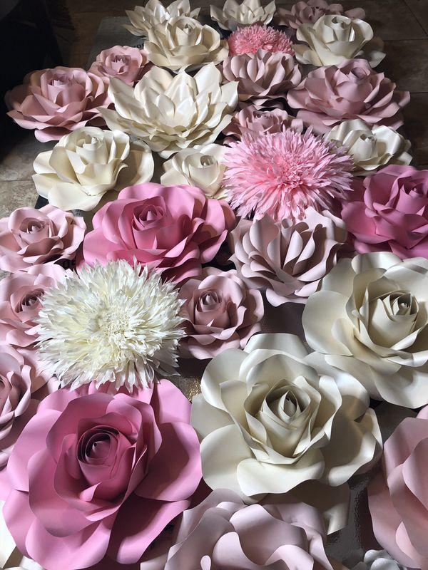 Paper flower wall for rental for sale in kissimmee fl offerup mightylinksfo