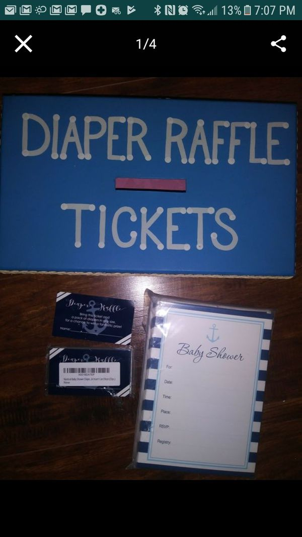 Baby Shower Invitations Diaper Raffle Tickets And Handmade Box For In Port St Lucie Fl Offerup