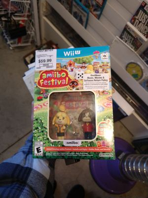 Animal Crossing amiibo Festival Nintendo Wii U new for Sale in UT, US