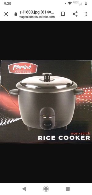 Photo Parini Appliances Non-Stick Rice Cooker 6.6 and 50 similar items