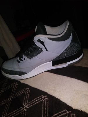 new products cce07 02589 Air Jordan 3s cool greys size 11 and a half asking for 125 for Sale in
