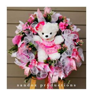 2017 christmas bear wreath for Sale in MD, US