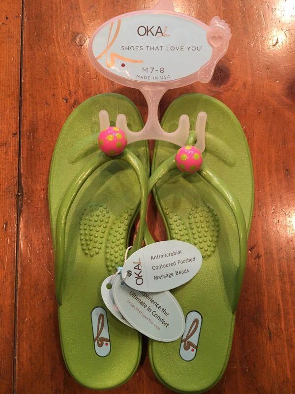 afbc4457ff00d OKA b women s flip flops. for Sale in Dallas