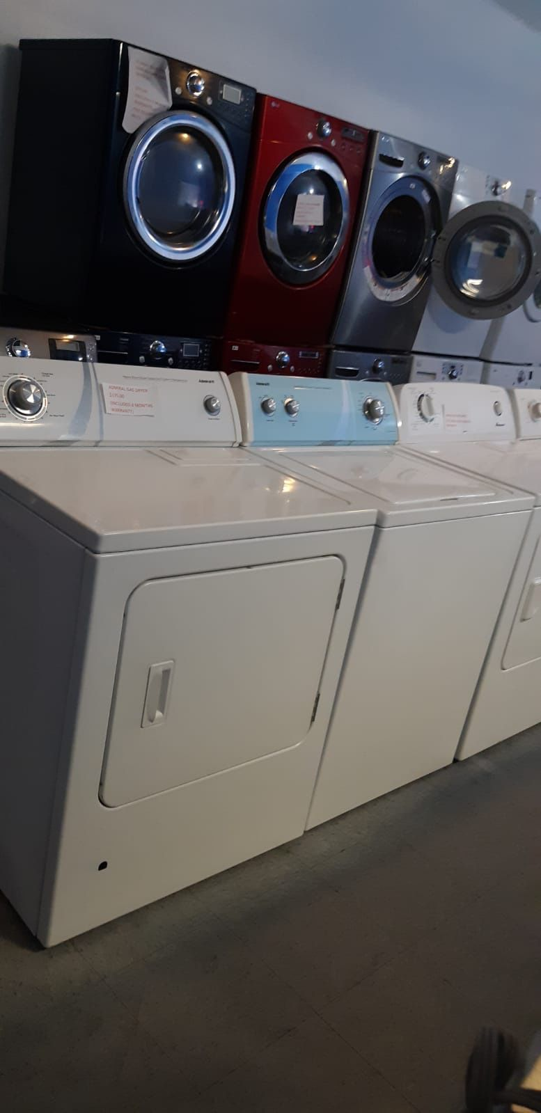 ADMIRAL TOP LOAD WASHER AND GAS DRYER SET IN EXCELLENT CONDITION