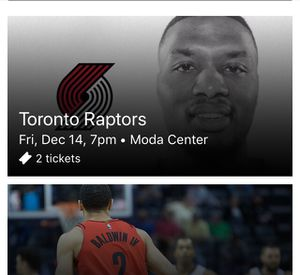 2 tickets Trail Blazers vs Toronto Raptors for Sale in Portland, OR