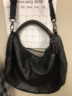 Kenneth Cole 100% black leather hobo purse for Sale in Gerrardstown, WV