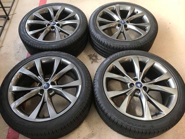 Ford Edge Take Offs Bolt Pattern Xmm Finish Hyper Tire Sizs  Pirelli P Verde All Season Price  Rims