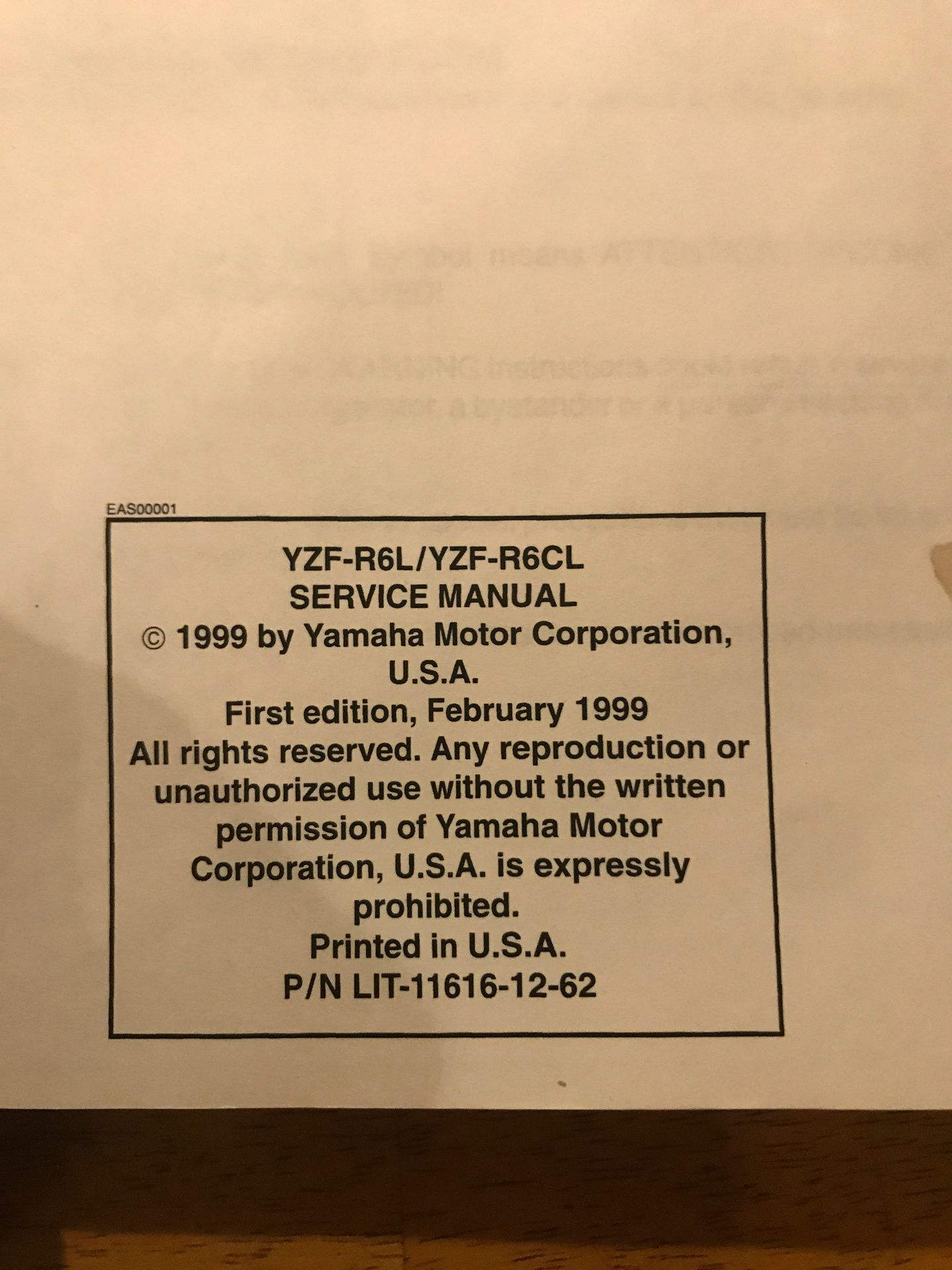 1999 Yamaha r6