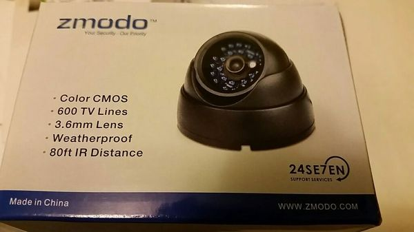 Zmodo ZMD-CBR-DBS23NM Color Security Mini Dome Camera 600 TVL 3 6mm 80 ft  Range for Sale in Queens, NY - OfferUp