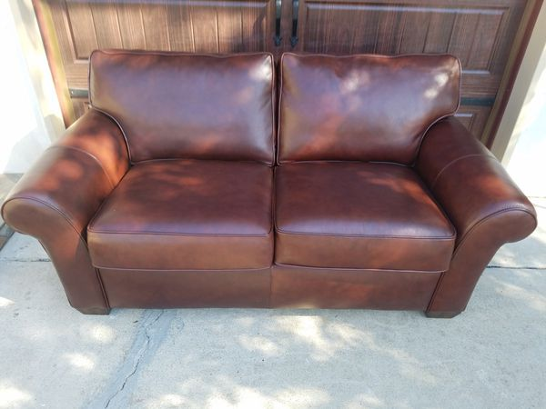 Awe Inspiring Rich Brown Flexsteel Top Grain Leather Sofa Loveseat Exceptional Condition For Sale In Modesto Ca Offerup Ibusinesslaw Wood Chair Design Ideas Ibusinesslaworg