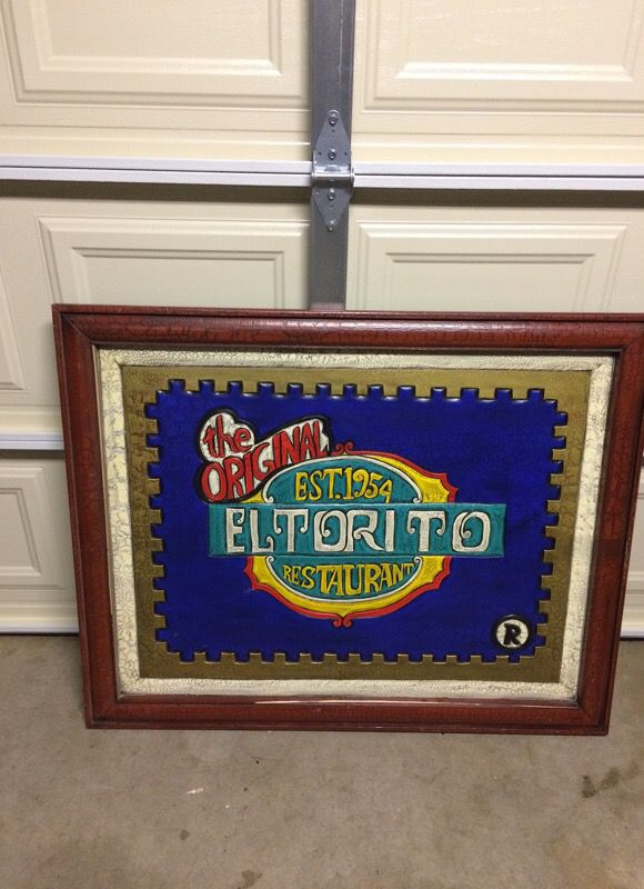 El Torito hand carved painting