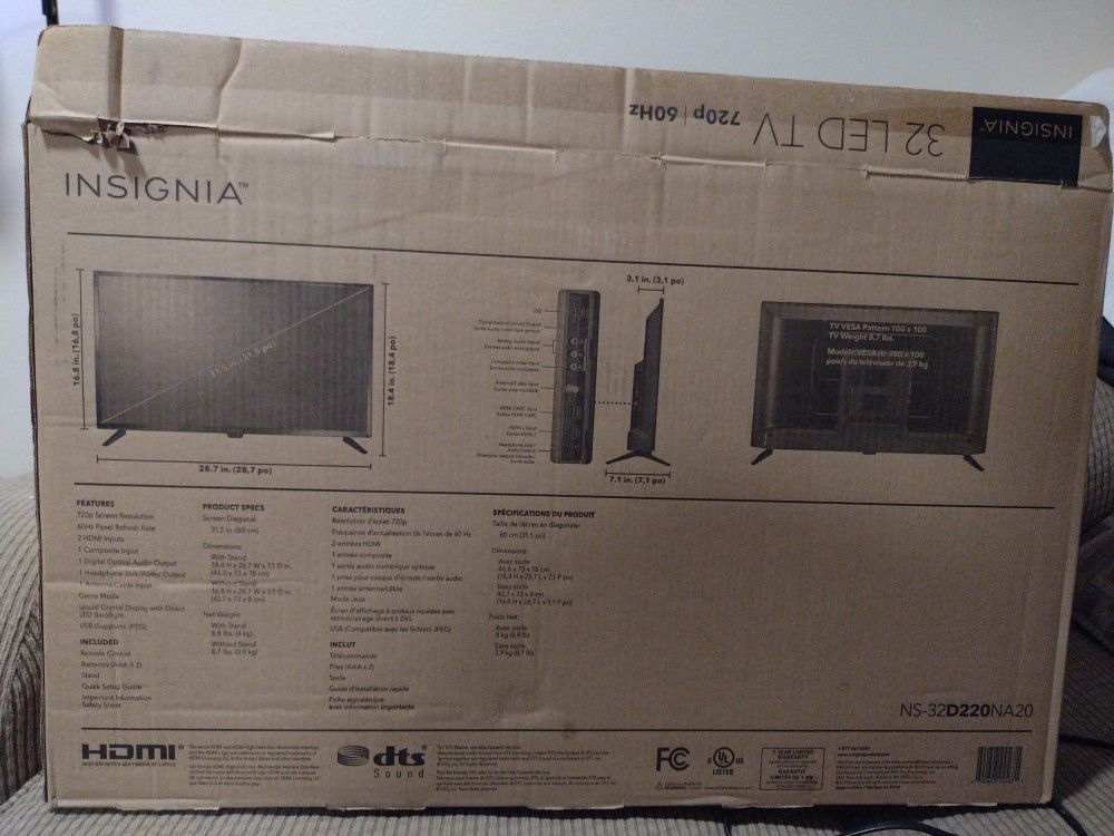 "32"" HDMI Flat screen TV"