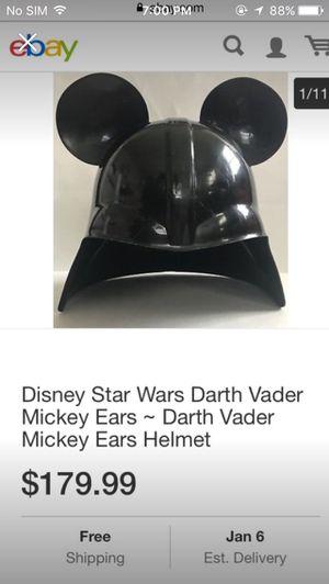 Darth Vader Star Wars prop Disney disney land mickey ears darth Vader ears helment star wars for Sale in Norwalk, CA